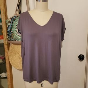 Tahari Grey/Purple Blouse